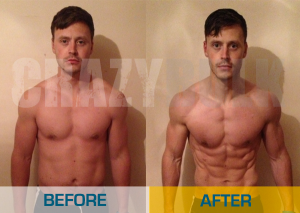 Crazy Bulk Before & After Picture